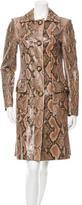 Michael Kors Python Knee-Length Coat