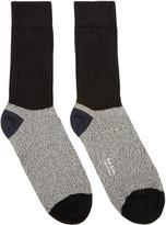 Paul Smith Black & Grey Rib Socks