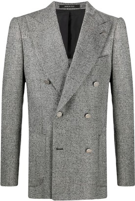 Tagliatore Prince of Wales-check double breasted blazer