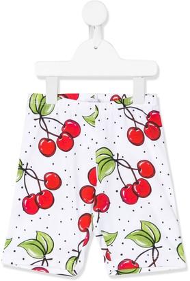 MonnaLisa Cherry-Print Knee-Length Shorts