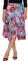 Bob Mackie Bob Mackie's Floral Print Pull-On Woven Skirt