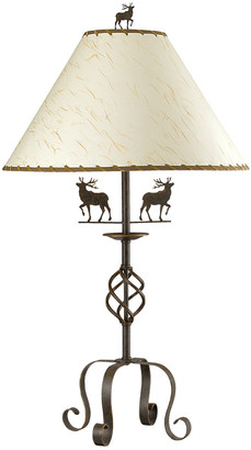 Cal Lighting Calighting 3-Way Deer Iron Table Lamp