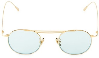 Cutler & Gross 47MM Round Goldtone Sunglasses