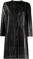 Drome laser-cut leather coat