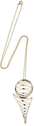 Alcozer & J Brass Necklace W/ Garnets