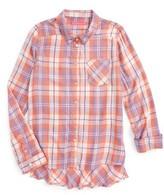 Fire Girl's Plaid Woven Shirt