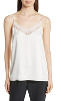 Robert Rodriguez Women's Lace Trim Silk Camisole