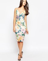 AX Paris Cami Dress with String Straps in Digital Floral