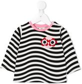 Fendi striped top - kids - Cotton/Spandex/Elastane - 18 mth