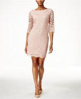 Ivanka Trump Three-Quarter-Sleeve Lace Sheath Dress