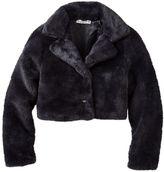 Knitworks Girls 7-16 Rhinestone Button Faux Fur Coat