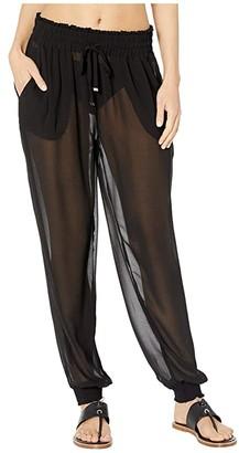 Kate Spade Solids Cover-Up Pants (Black) Women's Swimwear