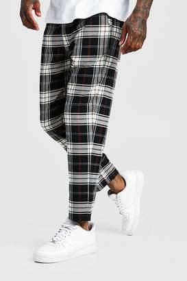 boohoo Multi Check Smart Cropped Jogger Trouser