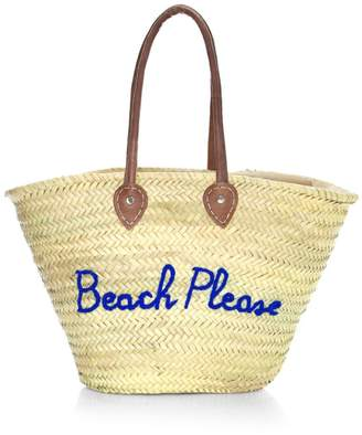 Poolside Large Woven Straw Beach Tote