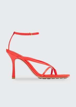 Bottega Veneta 90mm Ankle-Strap Thong Sandals