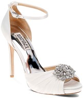 Badgley Mischka Tad Embellished High Heel Ankle Strap Sandals