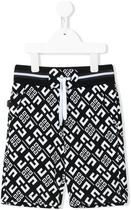 Givenchy Kids drawstring monogram shorts