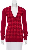 Burberry Metallic Argyle Sweater
