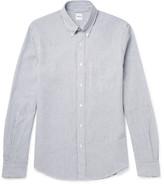 Aspesi Slim-fit Button-down Collar Cotton-seersucker Shirt