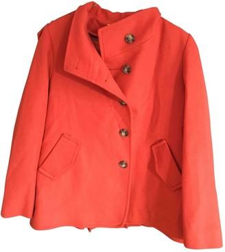 Les Petites Orange Wool Coat for Women