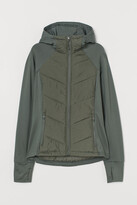 H&M Padded Hooded Outdoor Jacket - Green