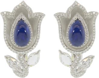 Saboo Fine Jewels Aura Burma Sapphire Tulip Earrings