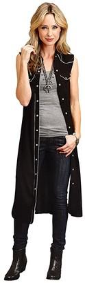 Stetson 0642 Black Rayon Crepe (Black) Women's Clothing