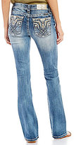 Miss Me Tribal Pocket Stretch Denim Bootcut Jeans