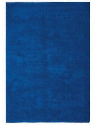 Calvin Klein LA Hand-Woven Shag Cobalt Blue Area Rug Rug Size: Rectangle 8' x 10'