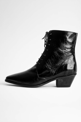Zadig & Voltaire Tyler Laced Vintage Ankle Boots