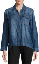 DL1961 Premium Denim Long-Sleeve Snap-Front Denim Shirt, Regata