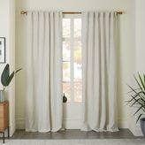 west elm Belgian Flax Linen Curtain - Natural