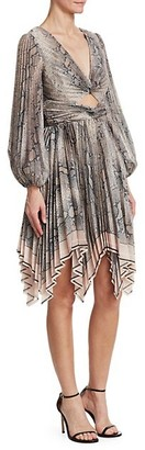 Zimmermann Corsage Python Print Pleated Dress