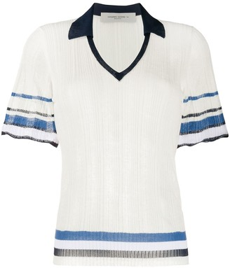Golden Goose Scalloped-Cuff Knitted Polo Shirt
