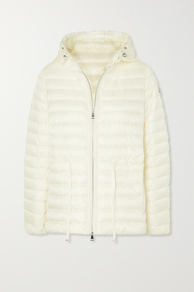 Moncler Raie Hooded Quilted Shell Down Jacket - Ivory
