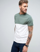 New Look Colour Block T-Shirt In Teal