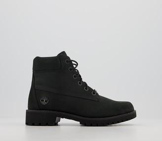Timberland Slim Premium 6 Inch Boots Black Nubuck Diamond Multi
