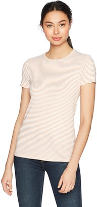 Three Dots Women's Montauk Stripe Short Tight Crewneck