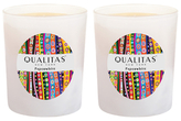 Qualitas Candles Paperwhite Beeswax Candles (Set of 2) (6.5 OZ)