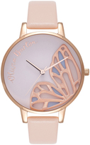 Olivia Burton OB16EB01 Embroidered Butterfly Nude PeachAnd Rose Gold Watch