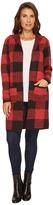 FDJ French Dressing Jeans - Buffalo Check Hoodie Cardigan Women's Sweater