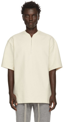 Fear Of God Off-White Half-Zip Henley T-Shirt