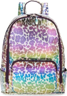 Bari Lynn Iridescent Leopard Water Repellent Backpack