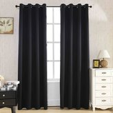 TIYANA Window Panels Grommet Top Solid Color Indoor Outdoor Thermal Insulated out Curtains Drapes Various Width and Length , 1 Panel