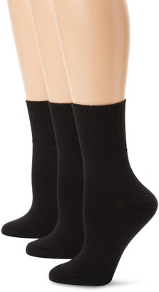 Hanes Women's Plus-Size 3 Pack Comfortsoft Extended Size Cuff Sock
