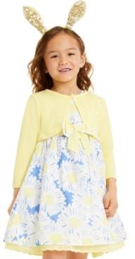 Blueberi Boulevard Little Girls 2-Pc. Shrug & Floral Dress Set
