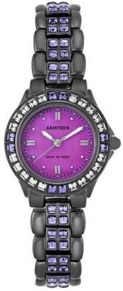 Swarovski Armitron Women's Crystal Accented Watch, Rose Gold/Purple