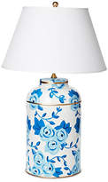 Dana Gibson Large Chintz Table Lamp - Blue
