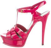 Saint Laurent Patent Leather Tribute Sandals