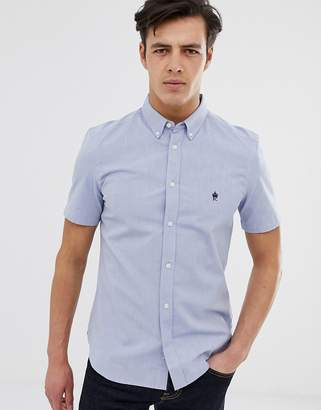 French Connection short sleeve oxford shirt-Blue